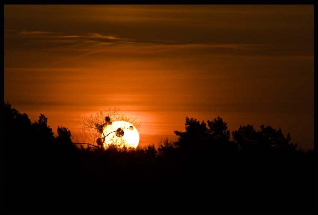 Noclegi Mrągowo, wschód słońca