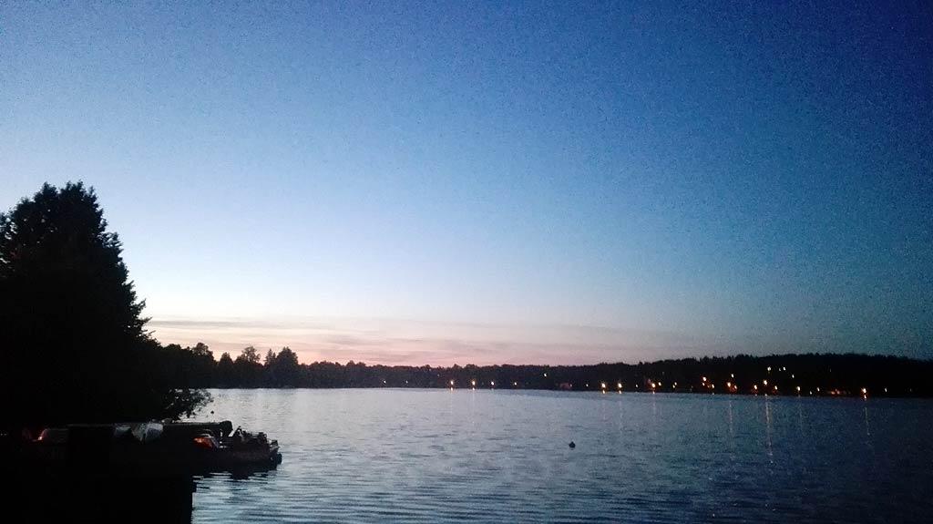 Zachód słońca nad jeziorem Czos